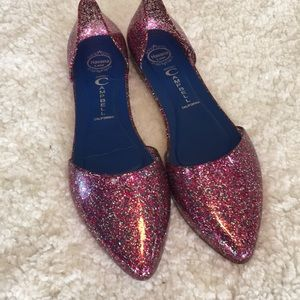 Jeffrey Campbell Love Jelly Glitter Pink Shoes